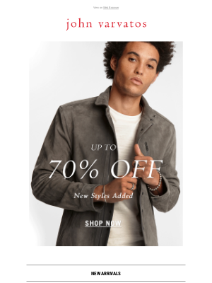 John Varvatos - Up to 70% Off   New Styles Added
