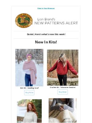 Lion Brand Yarn - New! New! New!