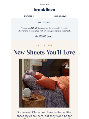 Brooklinen - NEW limited edition sheets 😍