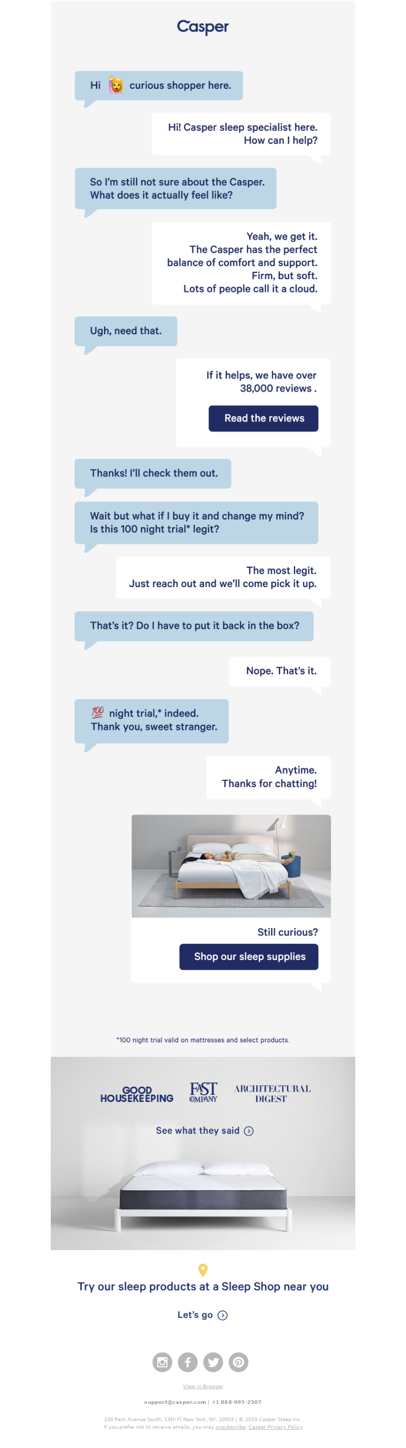 Casper - You Have 1 New Message from Casper
