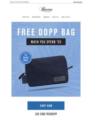 Baxter Of California - FREE Dopp Kit on Orders $35+!