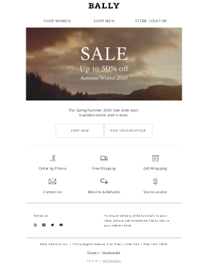 Bally - Final Days of Sale
