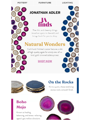 Jonathan Adler - Just In: Agate Accents