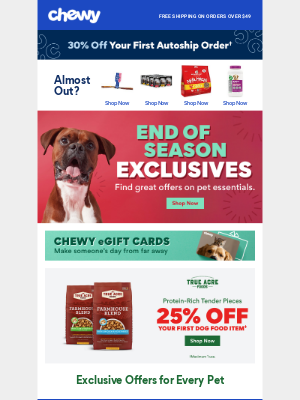Chewy - Get End-of-Season Savings Exclusively for You!