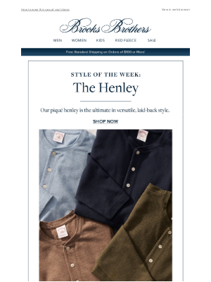 Brooks Brothers - Style of the Week: The Henley
