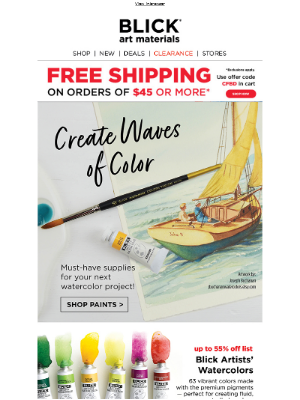All the watercolor supplies inside!