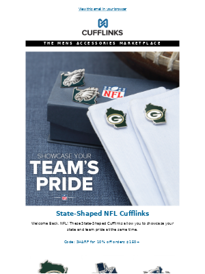 CuffLinks - Welcome Back NFL!