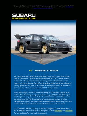 Subaru of America - MOTORSPORTS NEWS: Travis Pastrana's Gymkhana STI!