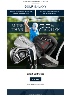 More Than 25% Off Select Golf Clubs from the Game's Top Brands