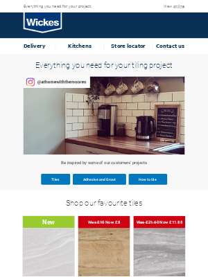 Wickes UK - Transform your home with our tile range