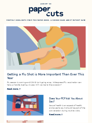 Zocdoc - August Newsletter: Getting a Flu Shot Is More Important Than Ever This Year