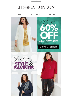 Jessica London - Fall for Style + Savings: Up to 60% Off  Your Faves