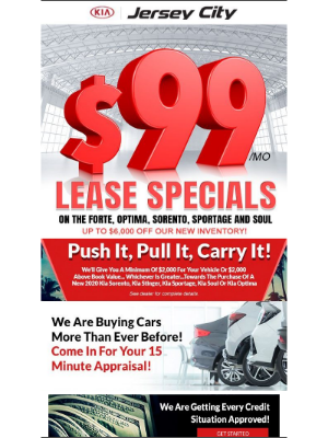 Best Lease Deals In The Tristate Area With Leases As Low As 99 Dollars A Month!