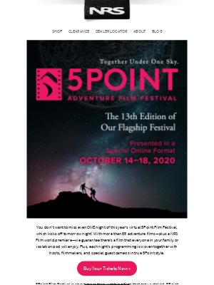 NRS - Don't miss the 5Point Adventure Film Fest!