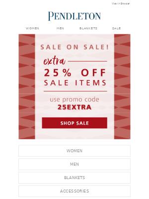 Pendleton Woolen Mills - Sale on SALE