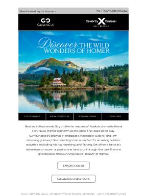 Celebrity Cruises - 🆕 Debuting in 2021: Homer, Alaska