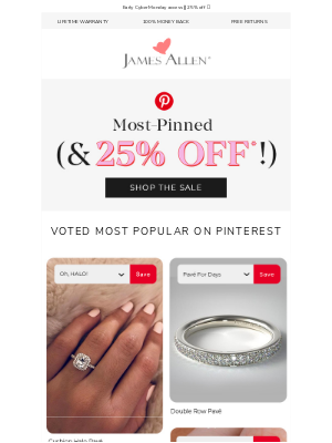 James Allen Rings - October's Most-Pinned 💍
