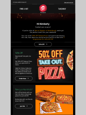 Pizza Hut (UK) - Kimberly you've scored!  👀 (some great deals)