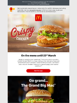McDonald's (UK) - Tried the new Homestyle Crispy Chicken?
