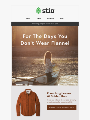 Stio - For The Days You Don't Wear Flannel