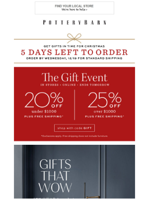 The Gift Event! Up to 25% Off Storewide + Up to 50% Off Deals of the Day
