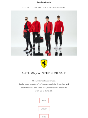 Ferrari - The Winter Sale continues