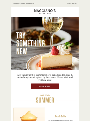 Maggiano's Little Italy - Summer Essentials: Peach Bellinis & More ☀️