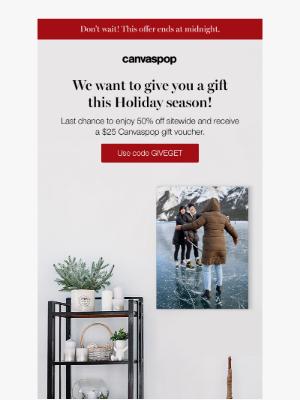 CanvasPop - $25 voucher + 50% off sitewide 🎁