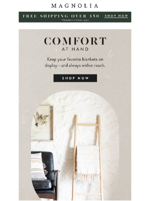 Magnolia Market - Cozy up with pillows and throws