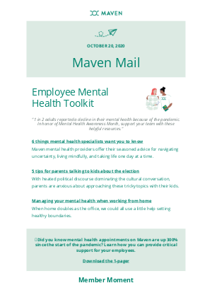 Maven - Your must-have employee mental health toolkit