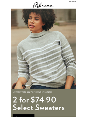 Reitmans (CA) - Fall must-have: sweaters!🍂