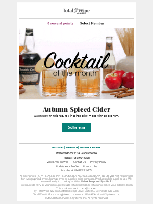 Total Wine & More - Warm up With an Autumn Spiced Cider