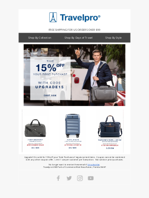 Travelpro Products - Upgrade your luggage with 15% off
