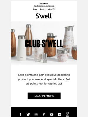 Introducing Club S'well Rewards