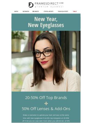 FramesDirect - New Year, New You, New Eyeglasses