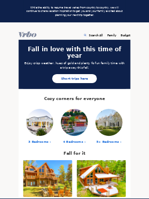 VRBO - Mini breaks for fall