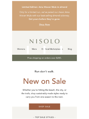 Nisolo - New. On. Sale.