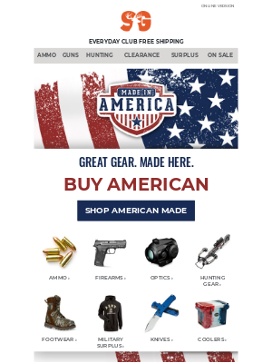 Sportsman's Guide - Buy American | Shop USA-Made Gear Today