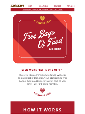 Kriser's Natural Pet - Every Purchase Gets You Closer to Free Food!