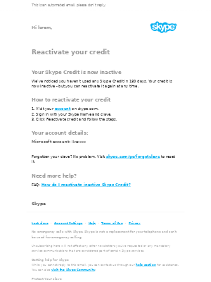 Reactivate your credit