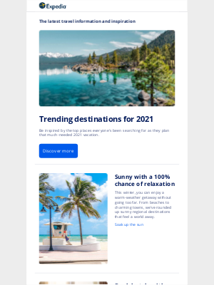 Expedia - Take a peek into the future and start dreaming of where you'll go