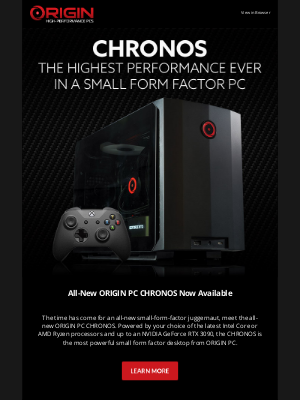 ORIGIN PC - INTRODUCING THE ALL-NEW CHRONOS: The Highest Performance Ever in a Small Form Factor Desktop