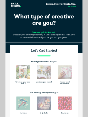 Skillshare - Quiz: What type of creative are you?