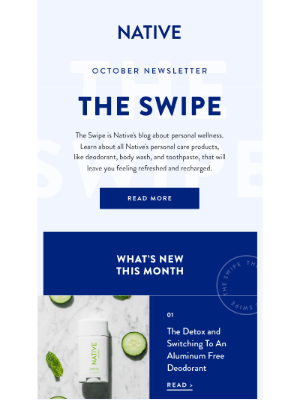 Native - The Swipe: October Newsletter