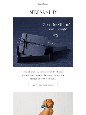 Serena & Lily - Give the gift of good design.