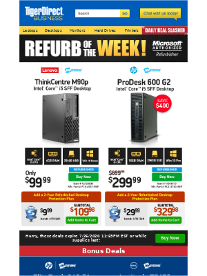 TigerDirect - Irresistible Savings! $99 Lenovo i5 PC
