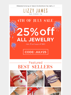 🎇✨Have a Blast with Our 25% Off SALE on ALL Jewelry🚀