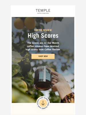 Temple Coffee Roasters - High scores for our March releases!