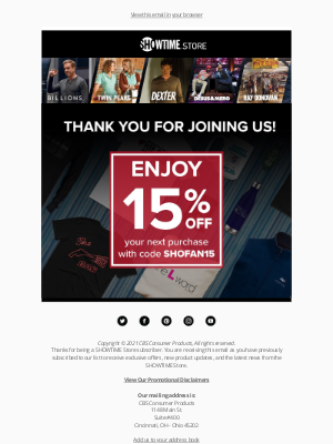 Showtime Networks - We're so happy you joined us! 😃