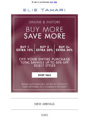 Elie Tahari - Buy More, Save More Event